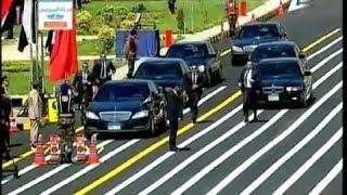 getlinkyoutube.com-لحظة وصول الرئيس السيسى حفل تخرج الدفعة 151 من معهد ضباط الصف