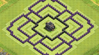 Clash Of Clans-TH9 Hybrid Base