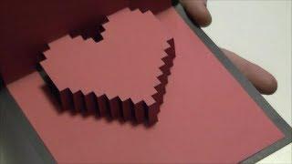 getlinkyoutube.com-Vero Vi 💋 TARJETA DE CORAZON EN 3D 💜