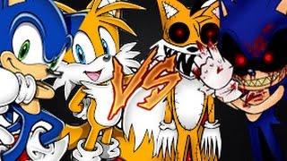 getlinkyoutube.com-PIVOT: Sonic e Tails vs. Sonic.exe e Tails.exe Duelo de sprites