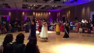 getlinkyoutube.com-Neha and Mo's Sangeet Dance - Navrai Majhi, Chittiyaan Kalaiyaan, Baby Doll, Manwa Laage