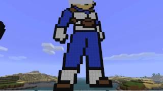 getlinkyoutube.com-Pixel Art Time Lapse - Goku and Vegeta