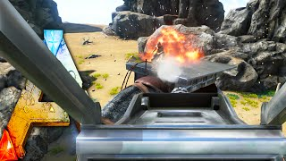 getlinkyoutube.com-Ark Survival Evolved -  Compy Wars 50vs50 , Missile Turret ! Ark Survival Evolved Gameplay