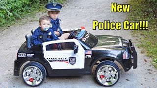 getlinkyoutube.com-Kid Cops and the NEW POLICE CAR with the Sketchy Redneck Mechanic DODGE POLICE CRUISER with Officer