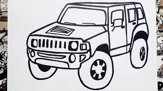 getlinkyoutube.com-Como dibujar un carro  | how to draw a car step by step