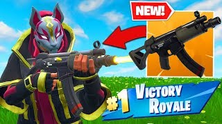 *NEW* SUBMACHINE GUN GAMEPLAY In Fortnite Battle Royale! width=