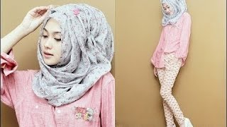 getlinkyoutube.com-Beautiful Hijab Tutorial ♚ Tutorial Hijab 2016 : Pakistani Hijab Styles 2016