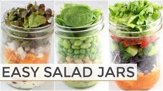 3 Salad-In-A Jar Recipes | Easy + Healthy