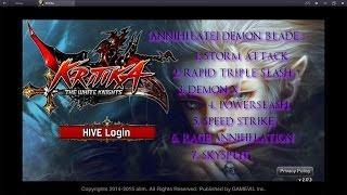 getlinkyoutube.com-Kritika: The White Knights Demon Blade Awakened Skills Preview (Red and Blue Path)