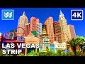 Walking tour of the entire Las Vegas Strip 2018 Travel Guide【4K】