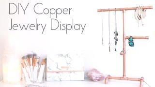 DIY Copper Jewelry Display | Organizer