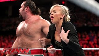 getlinkyoutube.com-Rusev offers gifts to Summer Rae: Raw, July 27, 2015