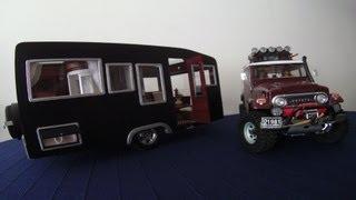 getlinkyoutube.com-[RC Trailer Camping car] handmade - Scale 1/10