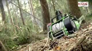 getlinkyoutube.com-Treuil portable à câble Forest Winch