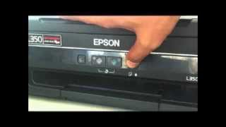 Solved : Red light blinking in Epson L110-L210-L300-L350-L355 by Ink Charge cleaning