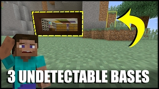 getlinkyoutube.com-How to Make 3 Undetectable Base Entrances in Minecraft