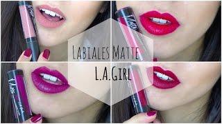 getlinkyoutube.com-Review labiales matte L.A.Girl