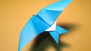 getlinkyoutube.com-How to Make a Paper Plane / Origami Bird / Leach's Storm Petrel