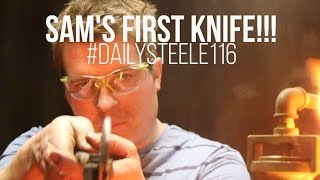 getlinkyoutube.com-SAM FORGES HIS FIRST KNIFE | PART 1