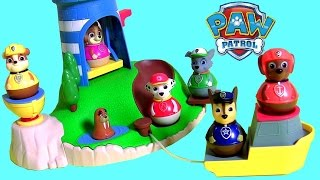 getlinkyoutube.com-Brinquedos Patrulha Canina Weebles Wobble ToysBR Brasil Paw Patrol Weebles Pull Play Seal Island set