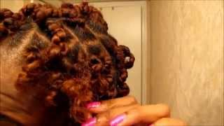 getlinkyoutube.com-Bantu Knot Out on Blown Out Flat Ironed Natural Hair