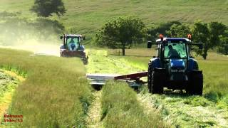 getlinkyoutube.com-Mowing with Three Tractors and Four Mowers.