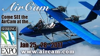 getlinkyoutube.com-AirCam Aircraft Review, see the AirCam at the U.S. Sport Aviation Expo 2017 in Sebring Florida.