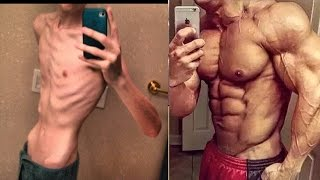 getlinkyoutube.com-From Thin Skinny Bones To Fitness Body Transformation Motivational Before & After Photos! - 2017