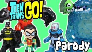 getlinkyoutube.com-TEEN TITANS GO! (Parody) Robin Steals Epic Imaginext Robin Suit and Battles Dr.Freeze & Ice Monster