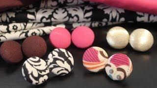 getlinkyoutube.com-DIY: Fabric Button Earrings