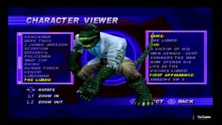 getlinkyoutube.com-Spider-Man (PS1) All Characters Gallery with Stan Lee!