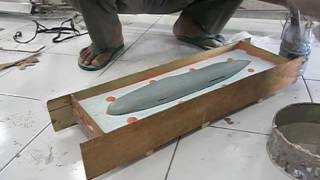 Cara Membuat Cetakan Badan Pesawat-Bagian 3 (How to Make Mold Fuselage of Model Airplane-Part 3