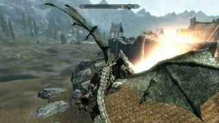 getlinkyoutube.com-Skyrim i'm a dragon ! best mod + download- play as a dragon in skyrim