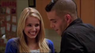 Glee - Puck and Quinn baking scene 1x09