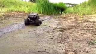 Nastiest mud for R/C truck. Scx10 brushless power.