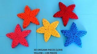 getlinkyoutube.com-How to make 3d origami Star (Christmas decoration)