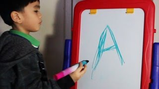 getlinkyoutube.com-ABC phonics writing with color markers