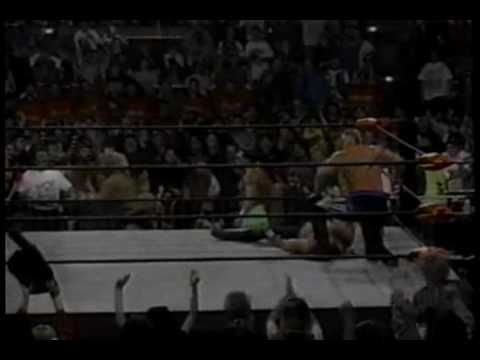 WCW Monday Nitro 2-5-96 Road Warriors vs Sting and Lex Luger 2 of 2