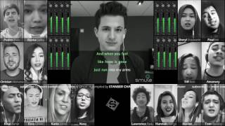 17 SMULE AT ONCE!!! Charlie Puth - One Call Away [sound like a choir!]