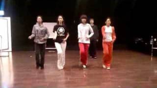 getlinkyoutube.com-SNSD Practice Room (Rhythm Nation) Yuri Yoona Sooyoung Hyoyeon Dec30.2009 GIRLS' GENERATION