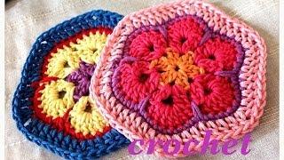 getlinkyoutube.com-African Flower Motif☆アフリカンフラワーのモチーフ☆かぎ針編み☆crochet☆ 鉤針入門 ☆