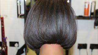 getlinkyoutube.com-Salon Work| Photoshoot ready blunt fringe and bob