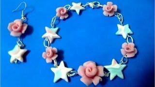 getlinkyoutube.com-Pulseras  rosas  de porcelana fría