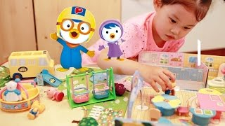 getlinkyoutube.com-뽀로로 유치원 장난감 놀이터 어린이집 가방셋트 Pororo Kindergarten Playset Toys おもちゃ đồ chơi 라임튜브