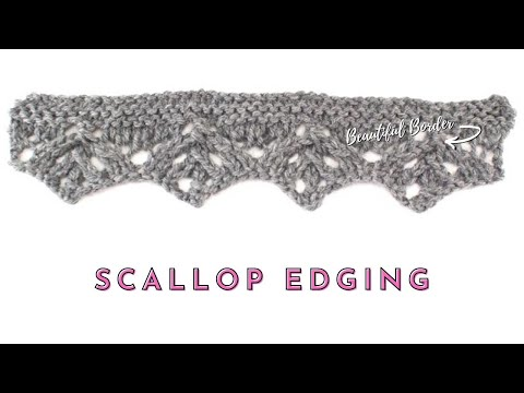 How to Knit the Scallop Edging