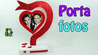 184. Manualidades San Valentín: Porta fotos (Reciclaje) Ecobrisa