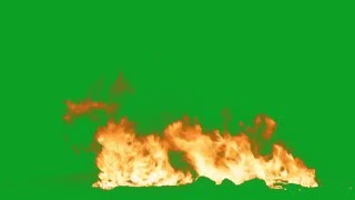 Big Fire Green Screen Torch HD AAE Fire at the Camera