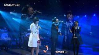 getlinkyoutube.com-Davichi & Kim Jin Ho - Timeless LIVE [lyrics+kara]