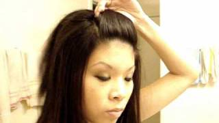 getlinkyoutube.com-Front Poof Hairstyle