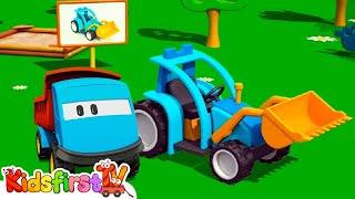 getlinkyoutube.com-Kids 3D Construction Cartoons for Children 4: Leo the Truck builds a TRACTOR! {トラクター} Kid'sfirstTV